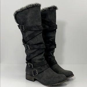 JELLYPOP boots SZ 9.5 gray